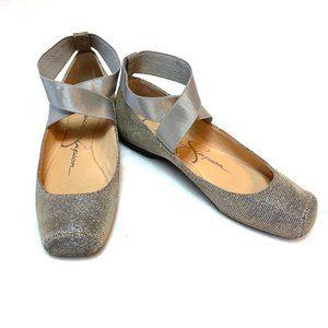 Jessica Simpson Gold sparkle metallic Ballet Flats